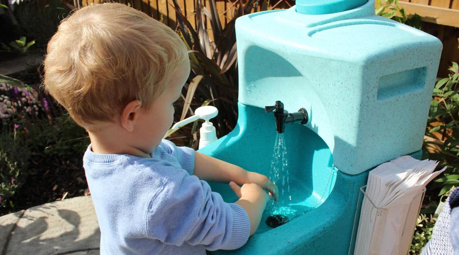 Hand hygiene for preschool children