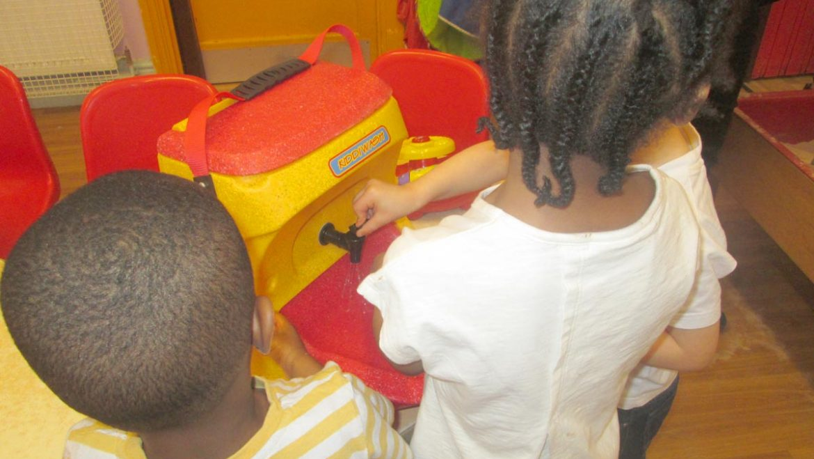 Call for children to be shown how to wash hands properly