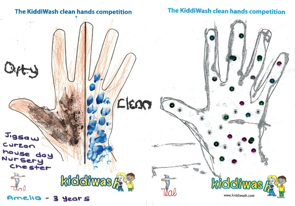 Kiddiwash clean hands runners up