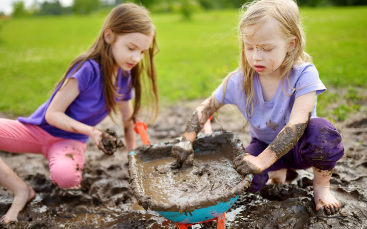 """Dirt is good for kids"" as long as they can wash their hands properly…"