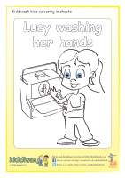 Colouring sheets for children from Kiddiwash