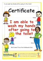 Hand washing certificate for children from Kiddiwash