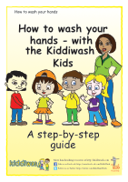 How to wash your hands instructions for children from Kiddiwash