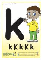 Lower case alphabet worksheet for children from Kiddiwash