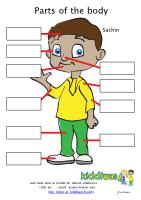Parts of the body Kiddiwash worksheet for children