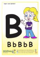 Upper case alphabet worksheet for children from Kiddiwash